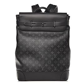 Louis Vuitton Rare Limited Black Monogram Eclipse Steamer Backpack 860897
