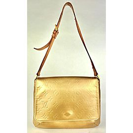 Louis Vuitton Matte Gold Monogram Vernis Thompson Street Shoulder Bag 4L1110