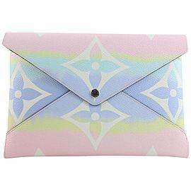 Louis Vuitton Pink Tie Dye Monogram Escale Kirigami GM Pouch Envelope 703lvs621