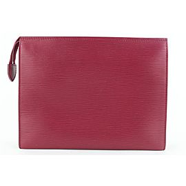 Louis Vuitton Magenta Fuchsia Epi Leather Toiletry Pouch 26 Poche Toilette 946lvs416