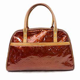 Louis Vuitton Tompkins Square Copper Bronze Monogram Vernis 870494 Brown Patent Leather Satchel