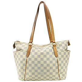Louis Vuitton Totally Pm Zip 870953 White Damier Azur Canvas Tote