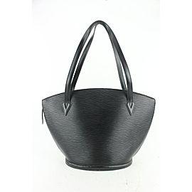 Louis Vuitton Black Epi Leather Noir Saint Jacques Zip Tote bag 638lvs617