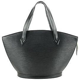 Louis Vuitton Black Epi Leather Noir Saint Jacques Zip Tote bag 573lvs613