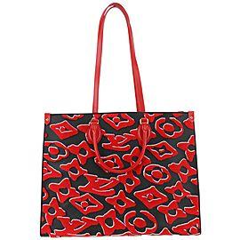 Louis Vuitton Urs Fischer Monogram Red OntheGo Tote bag 67lvs630