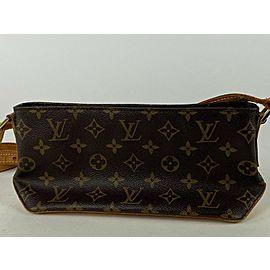 Louis Vuitton Trotteur Monogram 4la55 Brown Coated Canvas Cross Body Bag