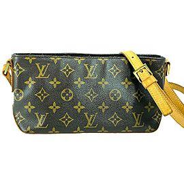 Louis Vuitton Trotteur Monogram 4lv715 Brown Coated Canvas Cross Body Bag