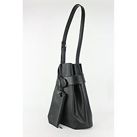 Louis Vuitton Black Epi Leather Sac D'epaule Twist Bucket Hobo with Pouch 826lv73