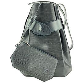 Louis Vuitton Black Epi Leather Noir Sac D'epaule with Pouch Twist Bucket 1L1118