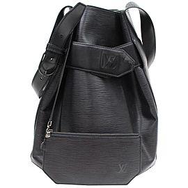 Louis Vuitton Sac D'epaule Twist Bucket Hobo Noir with Pouch 869137 Black Leather Shoulder Bag