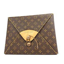 Louis Vuitton (Ultra Rare) No. 18 Visionaire Envelope 235489 Brown Monogram Canvas Clutch