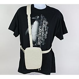 Louis Vuitton (Ultra Rare) Runway Ss19 Virgil Abloh Utility Side 4lz1023 White Leather Cross Body Bag