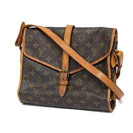 Louis Vuitton (Ultra Rare) Secret Flap Secretary Flap No 205 237756 Brown Monogram Canvas Cross Body Bag