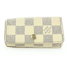 Louis Vuitton Damier Azur 4 Key Holder Case Multicles Wallet 9lk0128