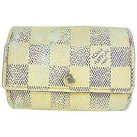 Louis Vuitton Damier Azur 6 Key Multicles Holder case 7l520