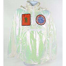 Louis Vuitton White Iridescent Ss19 Virgil Abloh Transparent Patches Windbreaker 12lz1023 Jacket