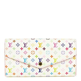 Louis Vuitton Rare Game On White Monogram Multicolor Long Sarah Wallet Porte 861644