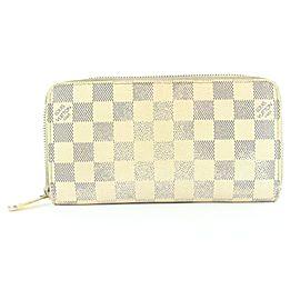 Louis Vuitton Damier Azur Long Zippy Wallet 4LVS78