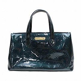 Louis Vuitton Bleu Nuit Monogram Vernis Wilshire PM 868657