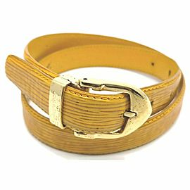 Louis Vuitton Yellow Epi Leather Ceinture Belt 861749