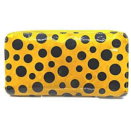 Louis Vuitton Yellow Kusama Infinity Pumpkin Dots Zippy Wallet Zip Around 862217