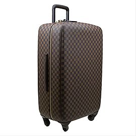Louis Vuitton Zephyr 70 Rolling Luggage Trolley Suitcase 219367 Damier Ebene Coated Canvas Weekend/Travel Bag