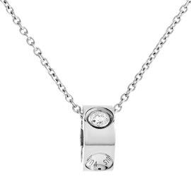 Louis Vuitton Empreinte 18K White Gold Diamond Pendant Necklace
