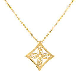 Louis Vuitton Idylle Blossom 18K Yellow Gold Pendant Necklace