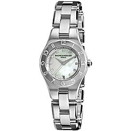 Baume & Mercier Linea 10011 Stainless Steel Quartz Womens 27mm Watch