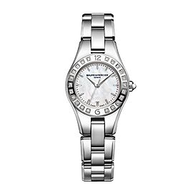 Baume & Mercier Linea 10078 Stainless Steel Quartz Womens 27mm Watch