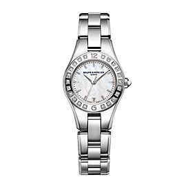 Baume & Mercier Linea 10078 Stainless Steel Quartz Womens 27mm Watch
