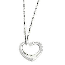 Tiffany & Co. Elsa Peretti Platinum Diamond Heart Necklace