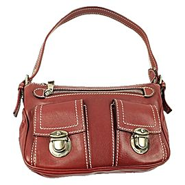Marc Jacobs Mjbsl04 Red Leather Hobo Bag