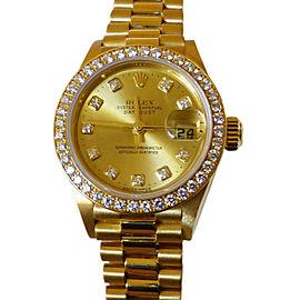 Rolex Datejust 79138 18K Yellow Gold & Diamond 26mm Watch