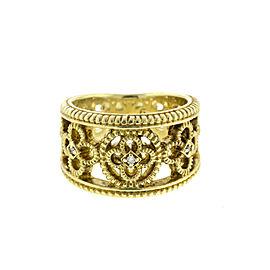 Judith Ripka 14k Yellow Gold Diamond Band Ring