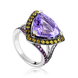 Mauboussin Multi-Stone Wide Arching Band Ring