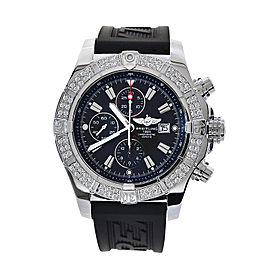 Breitling Super Avenger A13370 Stainless Steel & Rubber 48mm Watch
