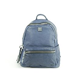 MCM 20MK1230 Blue Leather Lush Tumbler Backpack