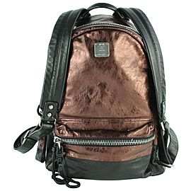 MCM Copper Tumbler Colorblock 15mcz0130 Brown Leather Backpack