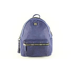 MCM Purple-blue Lush Tumbler 11mcz1113 Blue-purple Leather Backpack