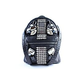 MCM Romantic Chandelier Lizard 2mr0315 Black Leather Backpack
