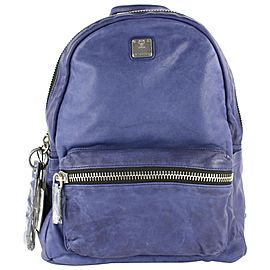 MCM Tumbler 16mcz0130 Blue Leather Backpack