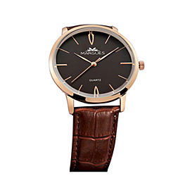 Margues Leather Band 40mm Mens Watch