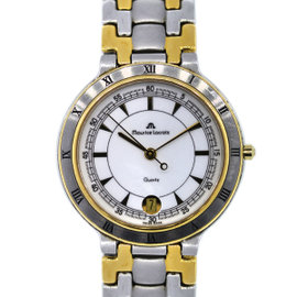 Maurice Lacroix 95417 Two Tone Stainless Steel and Gold Plated 34mm Mens Watch