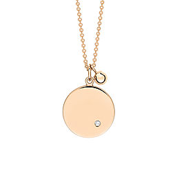 Mini Ever Disc & Diamond On Chain