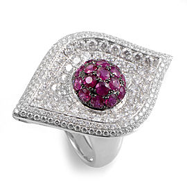 French Collection 18K White Gold Ruby Ring