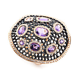 French Collection 18K Rose Gold Diamond & Amethyst Ring
