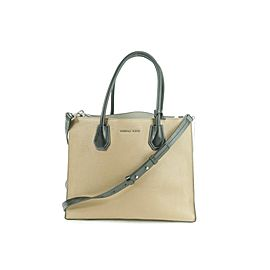 Michael Kors 2way Tote with Strap White Black 11mk0102 Brown Leather Shoulder Bag