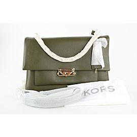 Michael Kors Green Leather Cece Medium Leather Shoulder Bag 1mk78