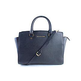 Michael Kors Selma 2way 4mr0327 Black Saffiano Leather Cross Body Bag